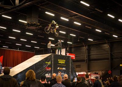 Dé Noordelijke Motorbeurs - Expo Assen:  Stunts door Alex van de Broek